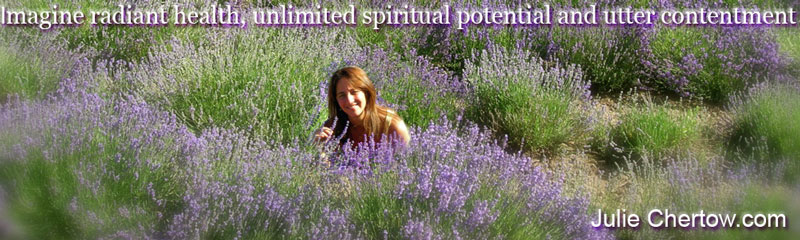 Julie Chertow in Young Living's St Maries Lavender Field